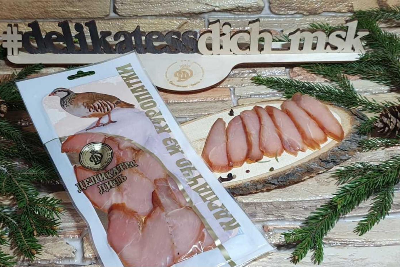 Нарезка Карпаччо из мяса Куропатки 100 грамм