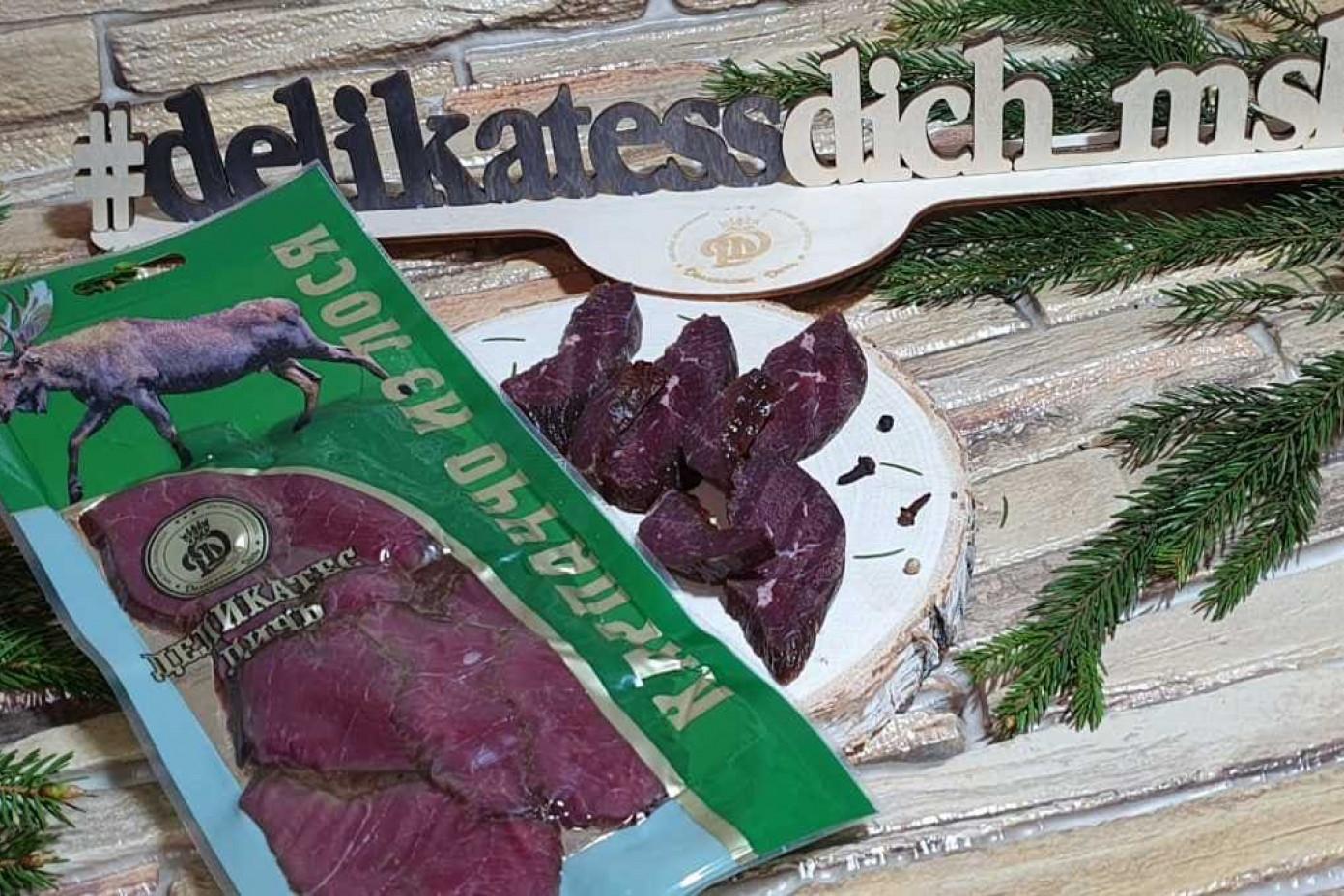 Нарезка Карпаччо из мяса лося 100 грамм