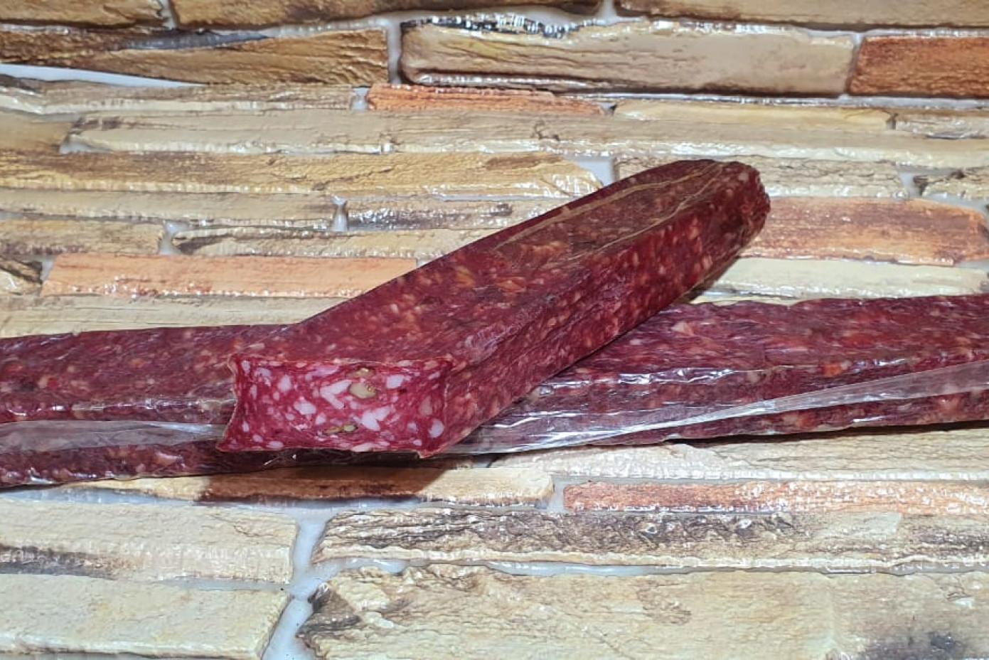 Колбаса сырокопченая с грецким орехом (0,250 грамм) в п/у
