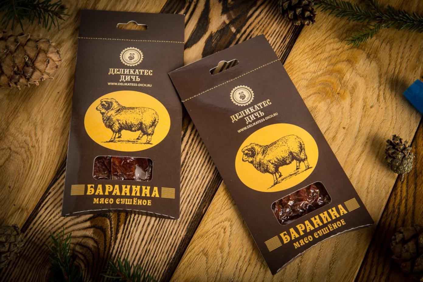 Сушеное мясо Баранины в подарочной упаковке 35г