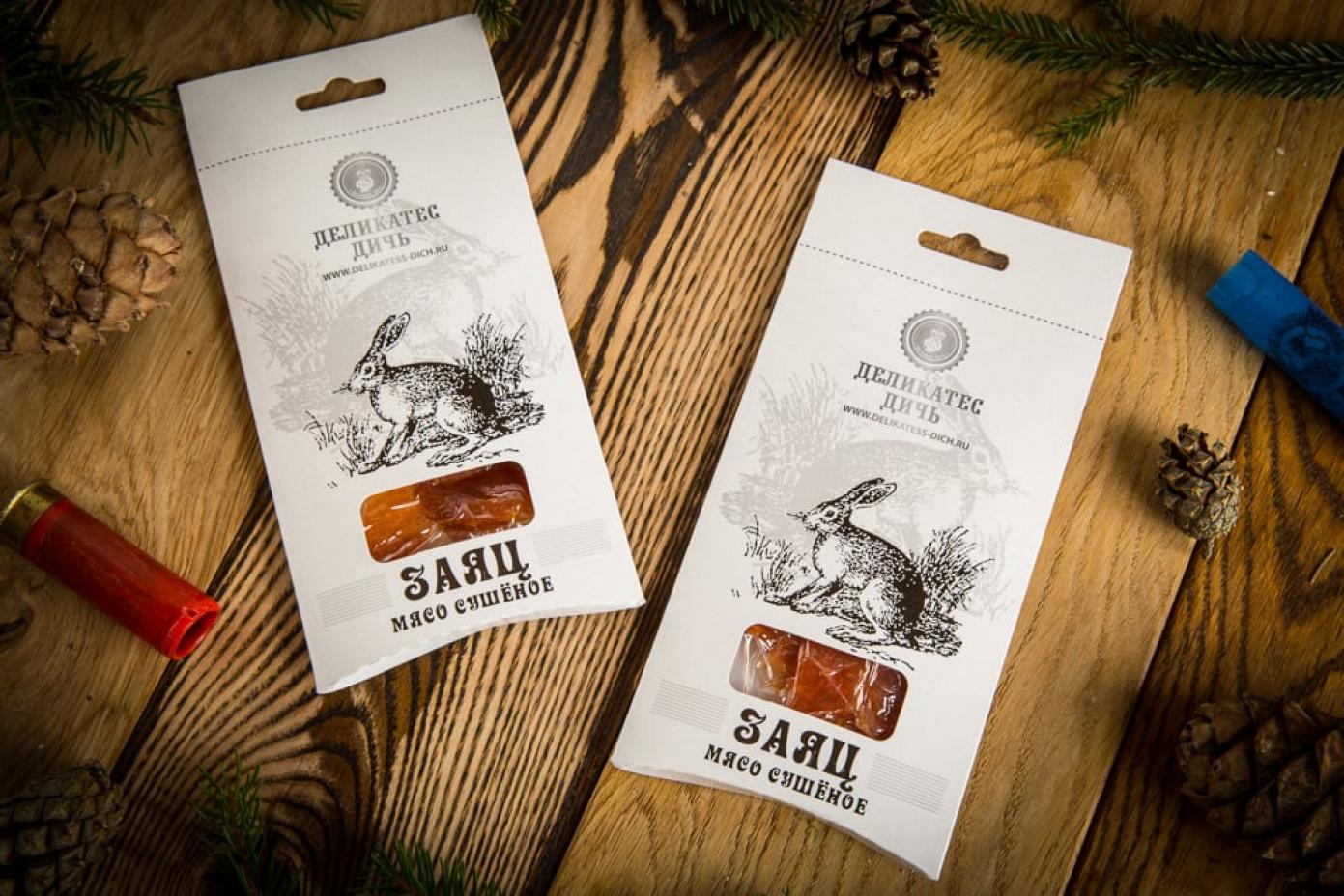 Сушеное мясо Зайца в подарочной упаковке 35г