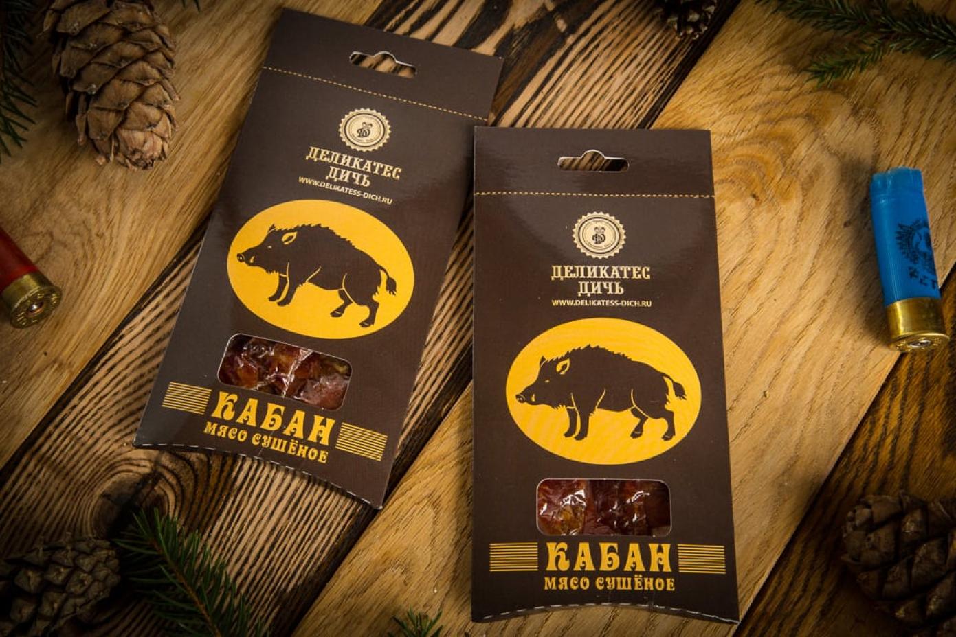 Сушеное мясо Кабана в подарочной упаковке 35г