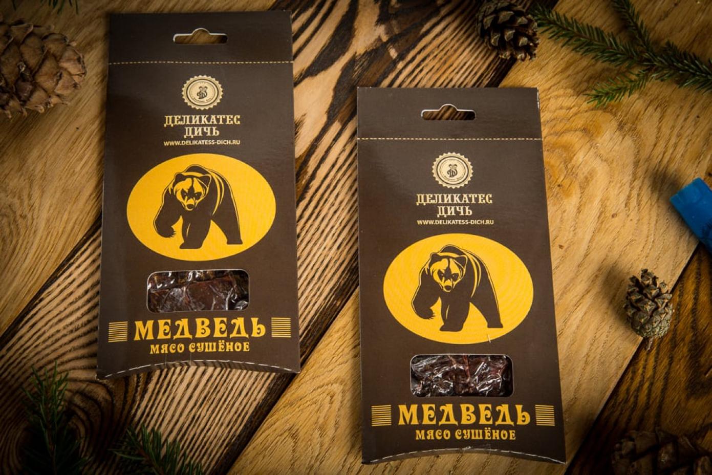 Сушеное мясо Медведя в подарочной упаковке 35г
