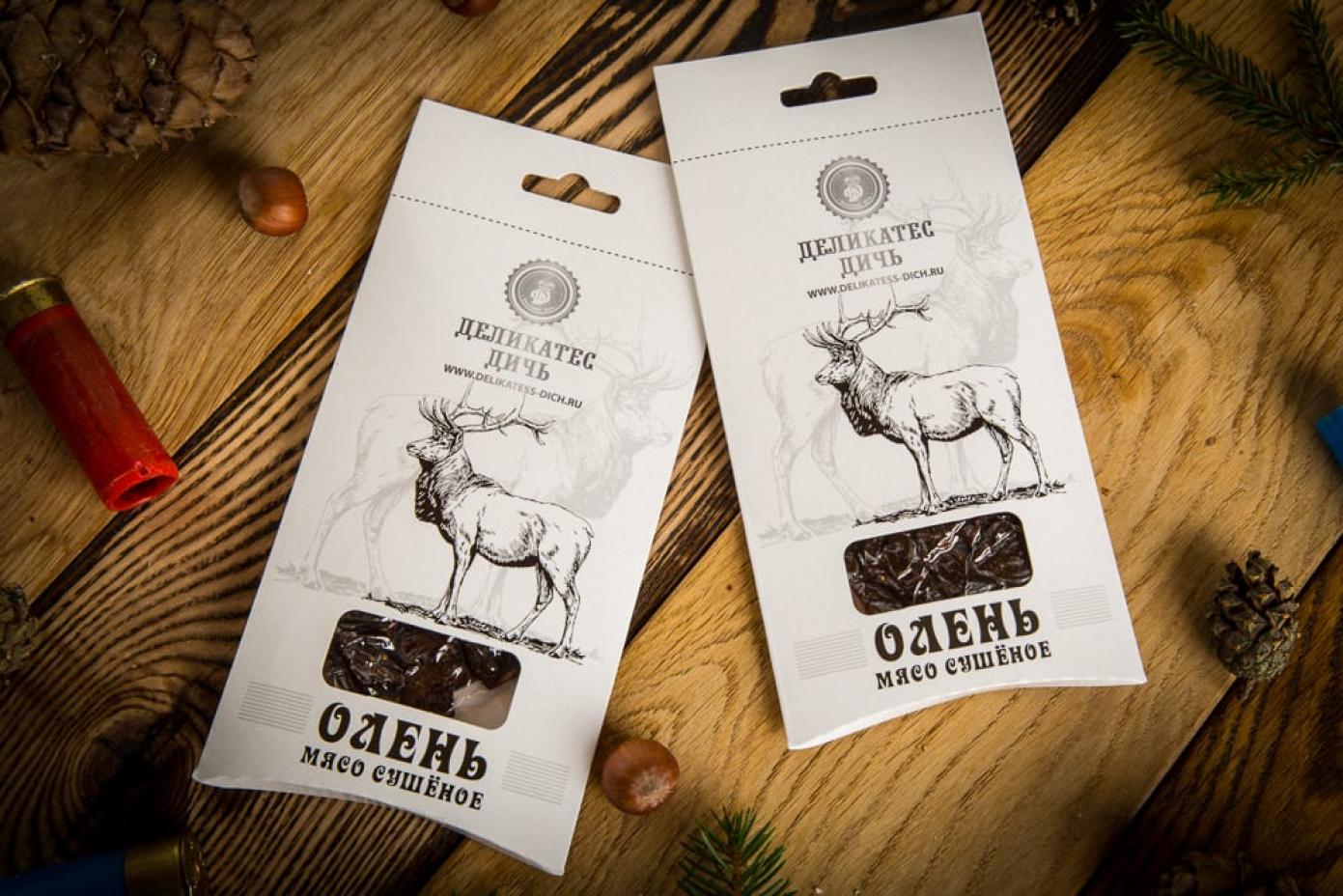 Сушеное мясо Оленя в подарочной упаковке 35г