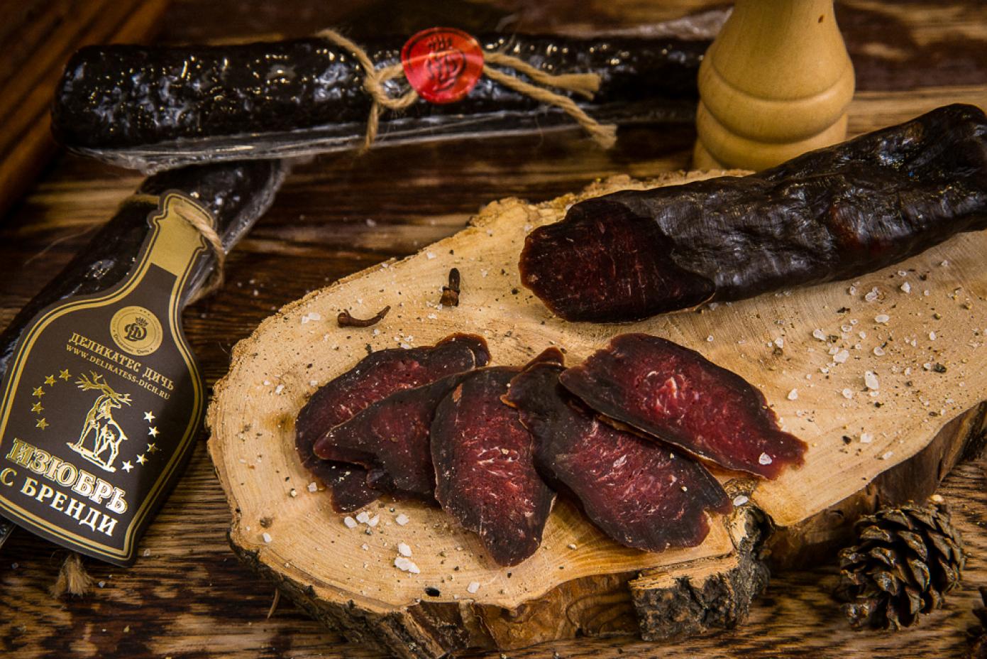 Колбаса из мяса Изюбря с бренди