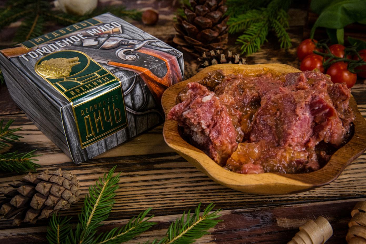 Томленое мясо Медведя в подарочной упаковке премиум