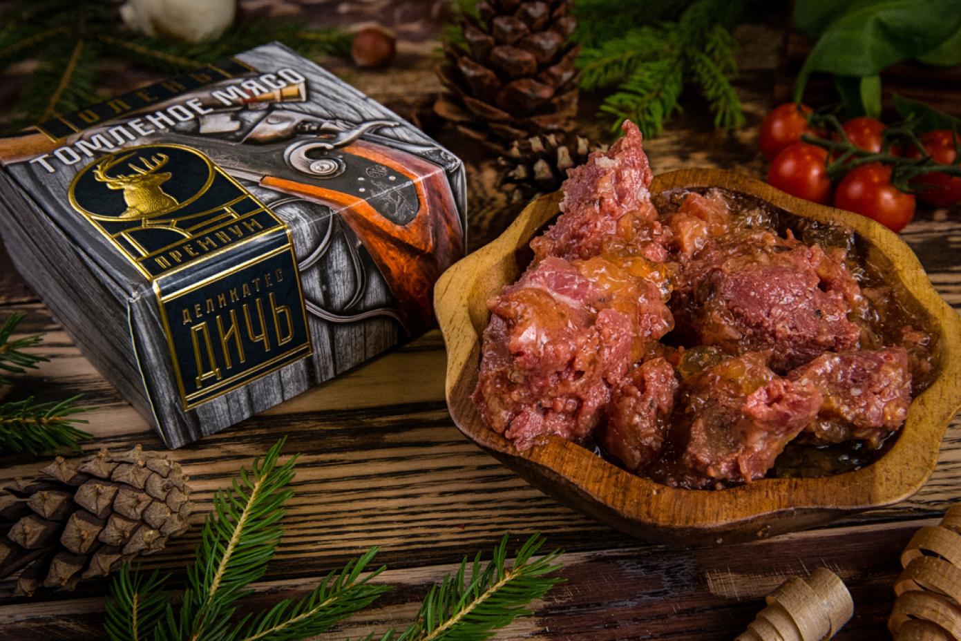 Томленое мясо Оленя в подарочной упаковке премиум