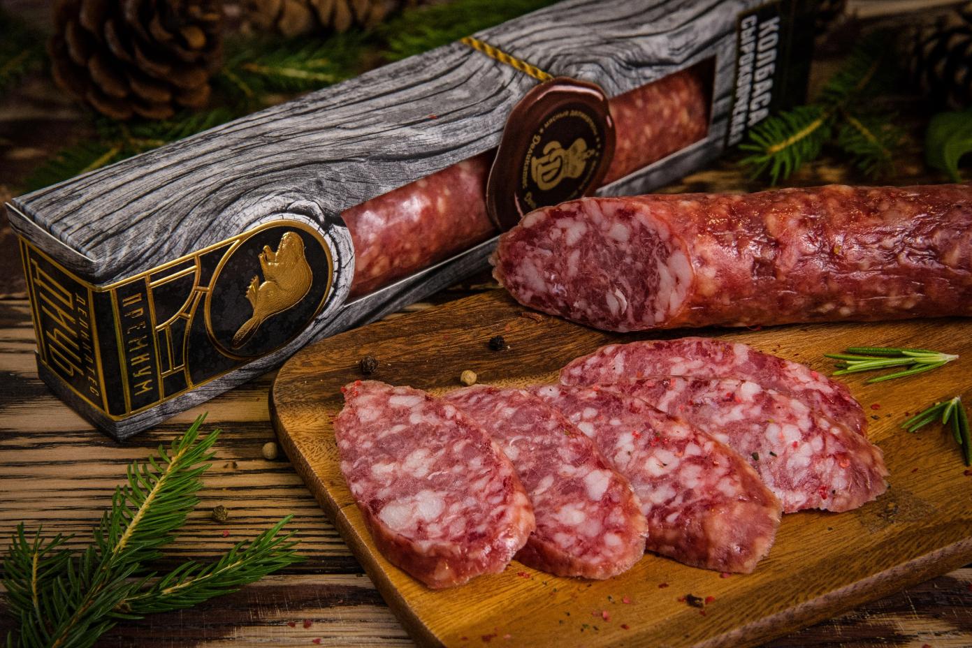 Колбаса из мяса Бобра в подарочной упаковке