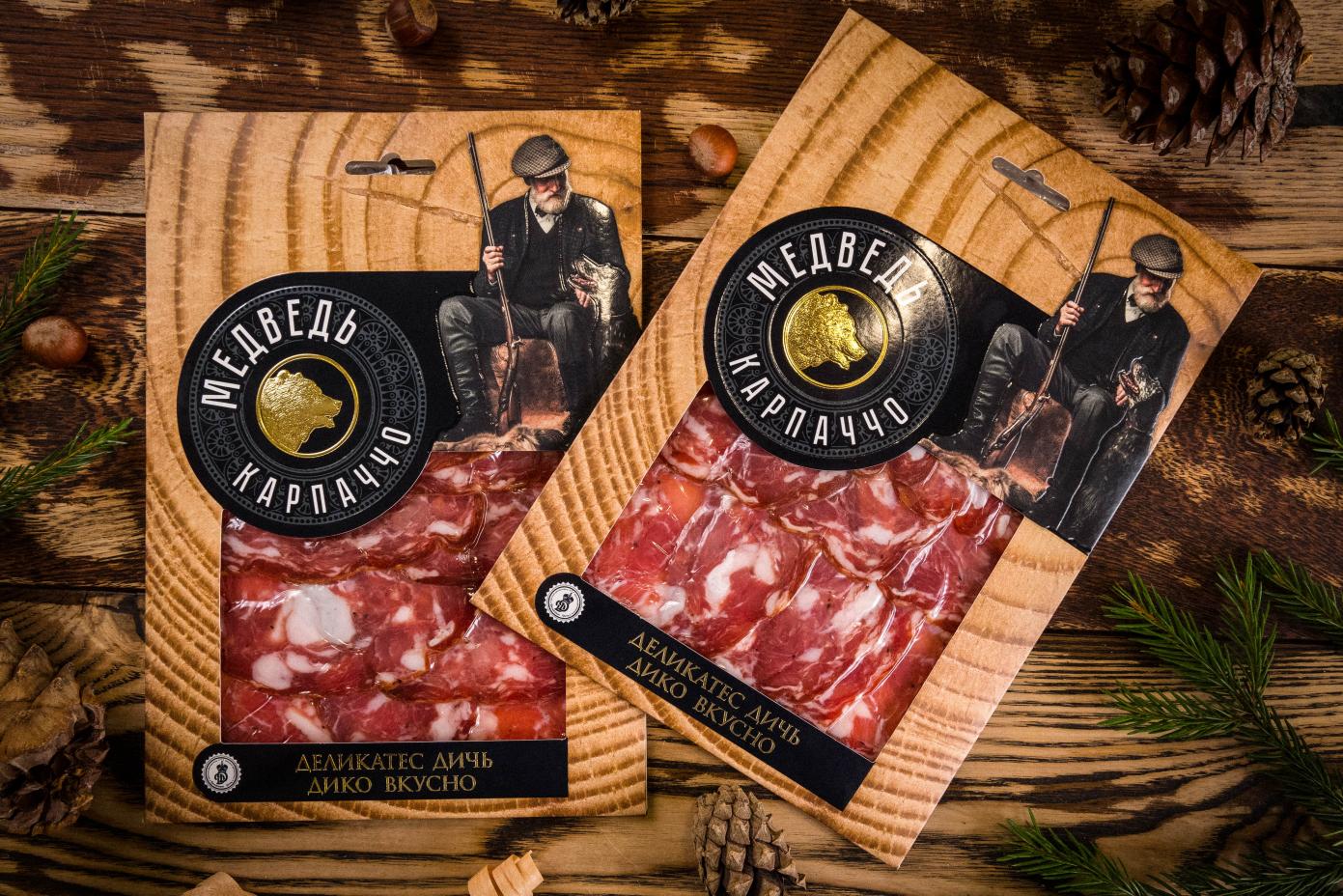 Нарезка из мяса Медведя в подарочной упаковке 100г