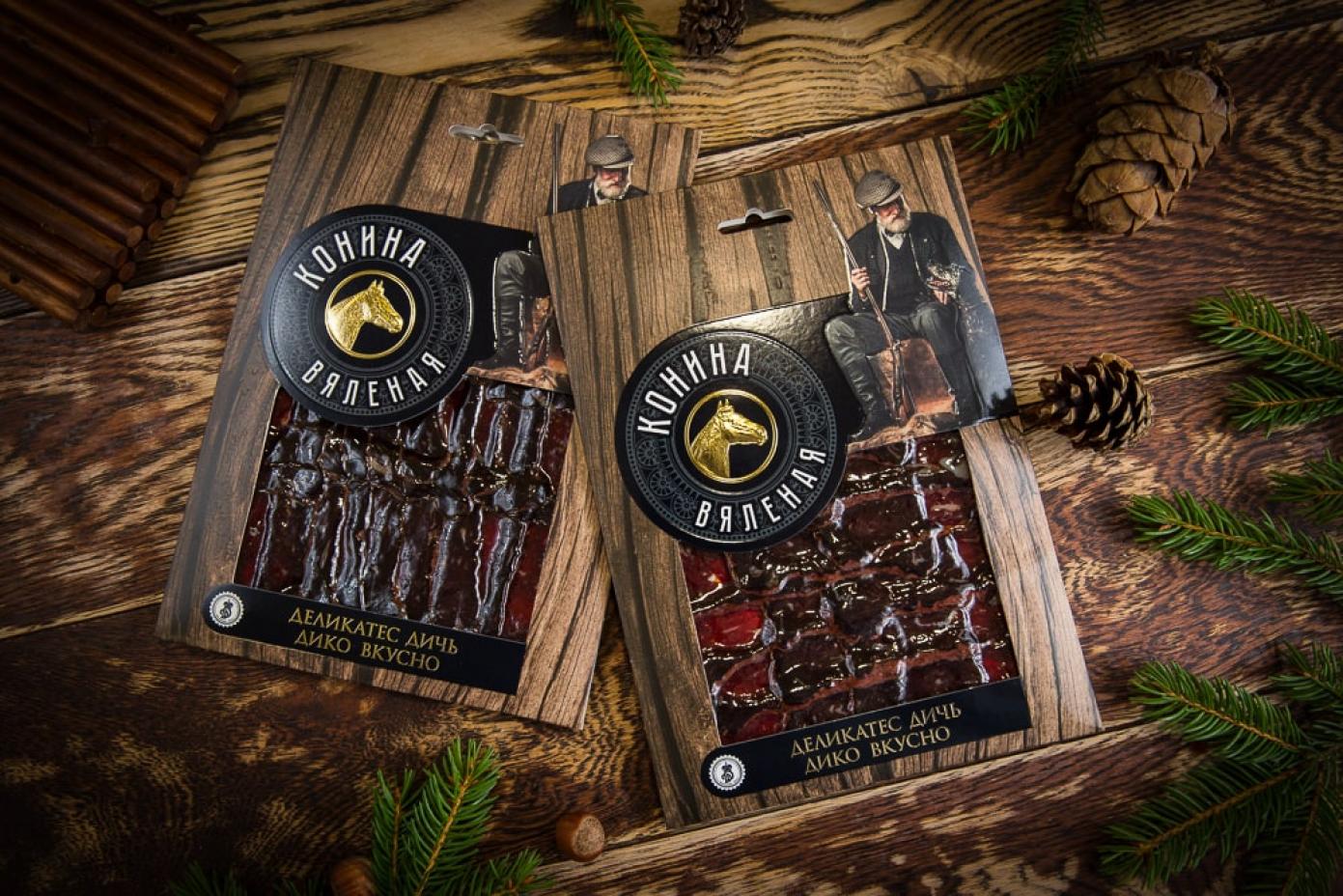 Нарезка из мяса Конины в подарочной упаковке 100г