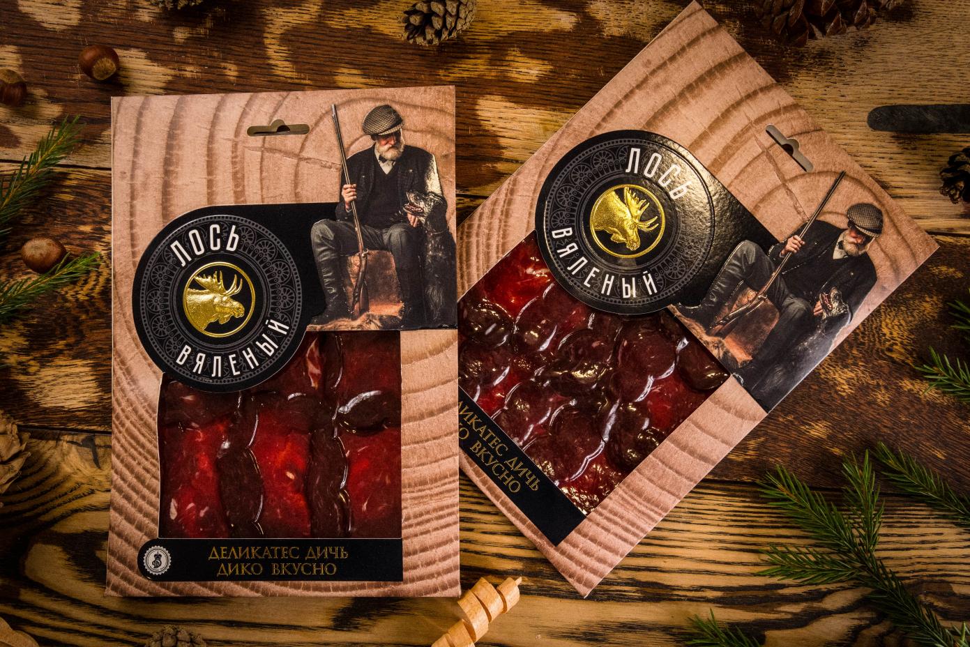 Нарезка из мяса Лося в подарочной упаковке 100г