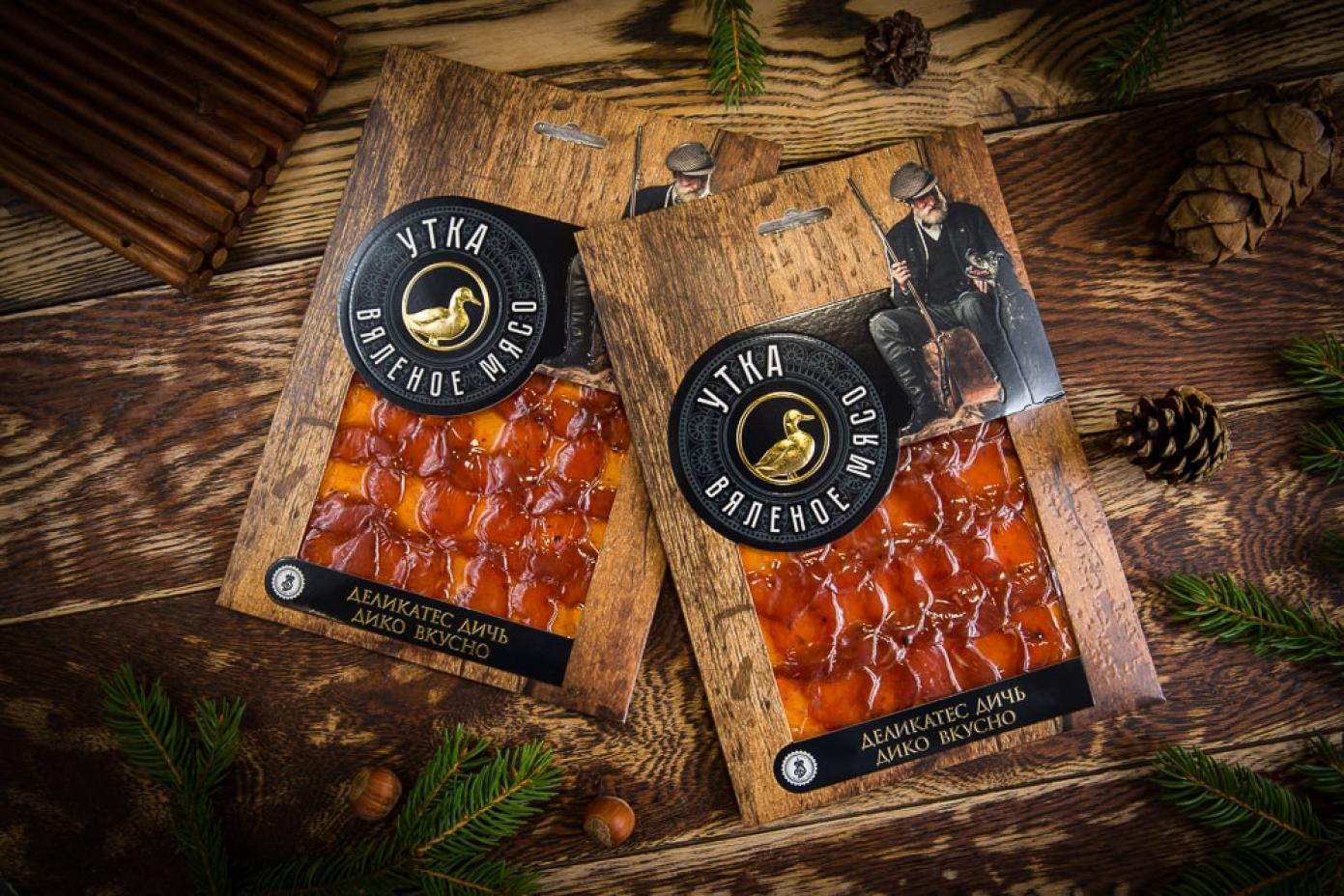 Нарезка из вяленого мяса Утки в подарочной упаковке 100г